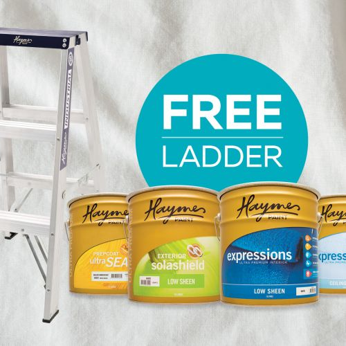 FREE LADDER promo for the TRADIES ends Oct 8th!